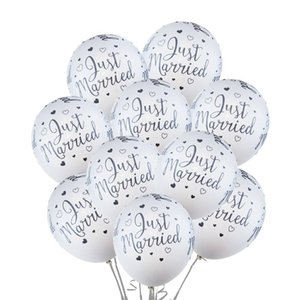 12inch Just Married Latex Balloons Wedding Ballon Valentine Day Decorations Kids Inflatable Air Ball Anniversaire Party Supplies