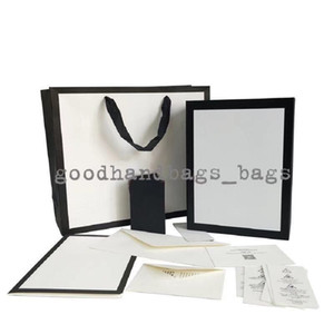 Factory wholesale designer lady bags box with different color name size and stuff for bags wallet handbags free shipping Only box #5188