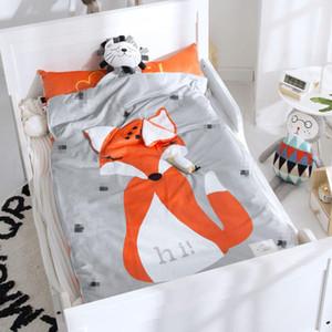 Home Bed Baby Sleeping Bag 100% Cotton + Soft Fleece Boy Girl Child Mothercare Cover Fleabag Side 70*150cm Kids Body Bear AB