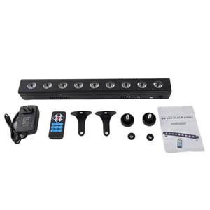 New Design AC100V-240V 260W UV 9-LED Remote-controlled Auto Sound DMX Purple Light DJ Wedding Party Stage Light Black