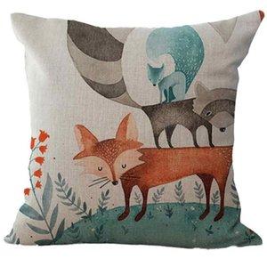 Hotel Printed Christmas Printing Fox Print Sofa Bed Home Decoration Pillow Case 45cm*45cm Cushion Cover NEW DE6