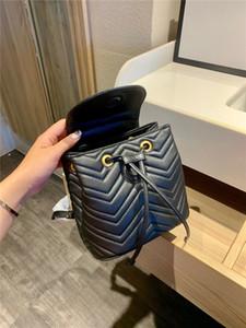 Luxus Designer Buchstabe Diamant Gitterbuchstabe Frauen Mode Rucksack Handtaschen Klare Metallic Geometrische Schnur Eimer Taschen