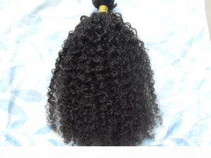 brazilian human hair extensions 9 pieces with 18 clips clip in hair kinky curly hair style dark brown natural black color
