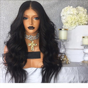 Brazilian Body Wave 360 Lace Frontal Wig 180 Density Pre Plucked Human Hair Wigs for Black Women Non Remy Swiss Lace wig