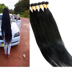 Virgin Human Hair Bundles Brazilian Hair Weaves Unprocessed 8-40Inch Wefts Indian Peruvian Malaysian Mink Human Hair Extensions
