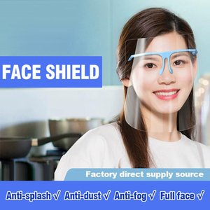 Safety Faceshield Transparent Clear Frame Plastic Reusable Protective Isolation Anti-splash Fog Oil splash Face Shield Kitchen Mask YL0192