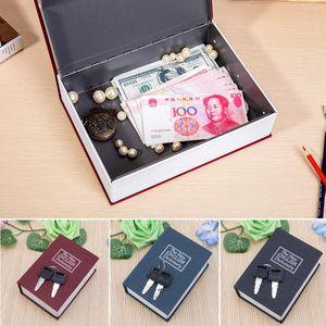 Javrick mini home segurança dicionário livro cofre caixa de armazenamento de jóias chave caixa de bloqueio quente w1219