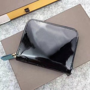 High quality Wallet leather multicolor coin purse short wallet Polychromatic purse lady Card holder classic mini zipper pocket