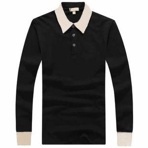 2020 New Fashion England Clothing Polo Shirt Horse Embroidery Mens T-Shirts Long Sleeve Slim Fit Boys London Polos Casual Men's UK Clothing