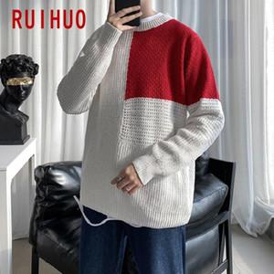 Ruihuo Ekleme Örme Kazak erkek Giyim Çekin Erkek Kazak Kış Erkek Giysileri Kazak 2020 Sonbahar Kış Yeni M-2XL