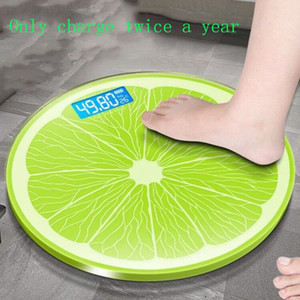 New Design Round Human Body Scale Intelligent Electronic Smart Scale Charging Body Fat Scale LED Digital Household