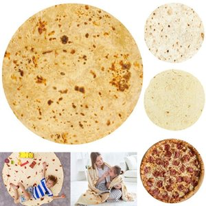 39 style Soft Warm Flannel Tortilla Blanket Round Shape throw blankets Coral Fleece Tortilla Nap Wrap travel Egg Blankets T9I001107