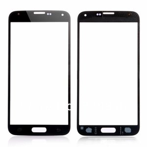 عالية الجودة الجبهة الخارجية شاشة اللمس عدسة زجاج عدسة لسامسونج غالاكسي S5 I9600 أسود أبيض أزرق