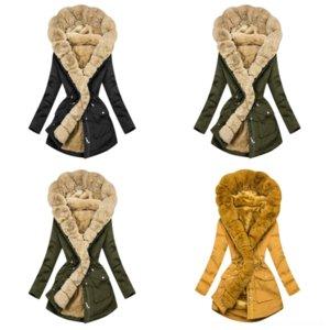 pram0 hiver girls manteau coréen fourrure collier hiver maternité manteau de noël mode vêtements vêtements Vieeoease fourrure coréenne fourrure à manches longues autruche