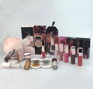 Set di trucco professionale Impostare all'ingrosso Makeupt misto Kit Lipgloss Kit Hilllighter Palette Polvere Bignè e trucco Pennello Regalo di Natale