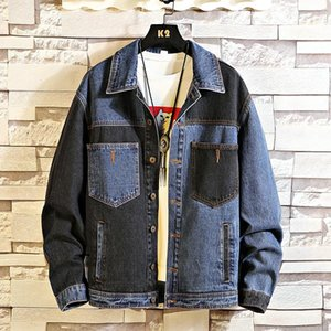 Autumn Spring 2020 mew fashion trend men's jackts coats Denim Jeans Jacket Men Stand Collar Casual Fashion Clothes