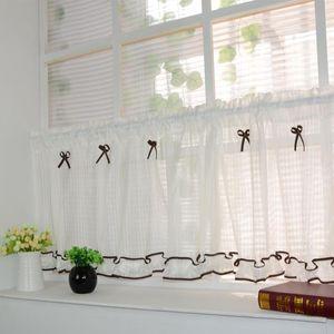 New Curtains Bar Screen Small Gauze Shade Kitchen Cabinet Head Short Curtain Window Treatments Roman Blinds