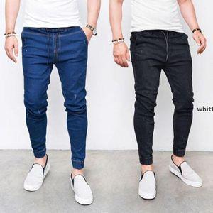 Jh Men &#039 ;S Denim Jean Brand New Men &#039 ;S Tight -Fitting Fashion Denim Feet Elastic Pants Jeans Zipper Men Pants Trousers w