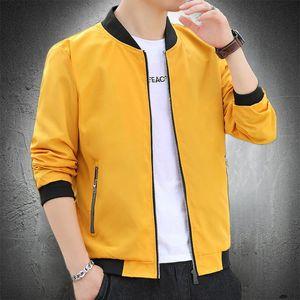 2020 Mens Casual Jacket Autumn Stand Collar Baseball Jacket Fashiom Bomber Men Lightweight Coat Mens Slim Fit Coat
