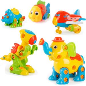 Bambini perforano giocattoli creativi drill educativi viti dado 3d puzzle assemblato mosaico design building pretend gioca giocattoli per ragazzi Q1217