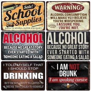 2021 Beer Fest Alcool Metal Signe Plaque Métal Vintage Pub Bar Shop Decor Wine Tin Signe Plaque Plaque Plaque Accueil Décor Art Peinture Sticker mural