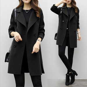 Womens Jacket Autumn Winter Fashin Casual Outwear Coat Overcoat Cardigan Slim Loose Long Sleeve Womans Clothes Mujer Chaqueta