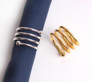 Special Spring Design سبيكة منديل الدائري الفضة منديل الدائري الذهب منديل الدائري ل مطعم الزفاف