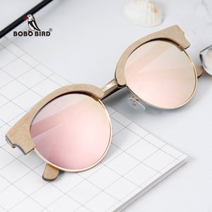 Bobo Bird Sunglasses Mulheres Polaroid Lens Wood Sun Óculos UV400 Eye Wear Dropshipping J-DG14E J1211