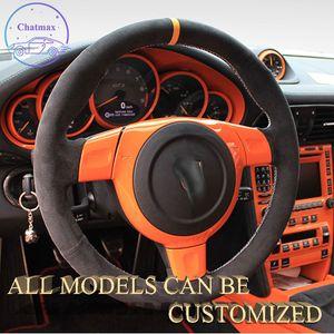 Крышка рулевого колеса Alcantara замшевой кожи автомобиля для Porsche 911 GT3 2013-2016 2017 2018 2019 2019 2020 Hand Handle Holder Suppot Customization