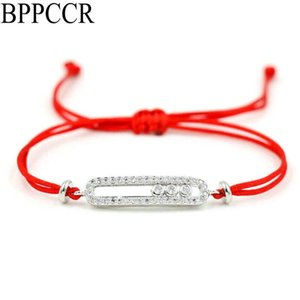 BPPCCR Shiny Crystal Zircon Messi Red Thread Rope String Bracelet For Men Women Lucky Lovers Bracelets Wedding Jewelry Gift