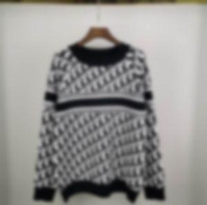 2020 Otoño e invierno Nuevo Graffiti azul Intoria Logo Suéter Máquina de tejer importada Máquina de punto de alta calidad Suéter de suéter de suéter Fashi de los hombres