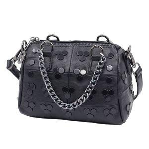 New womens handbags mini corssbody bag female pillow small bag rivet shoulder bag sheepskin handbags purses