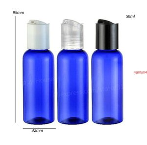 30 x 50ml New Fashion Pet Bottle With Disk Cap Cobalt Blue 50cc Cosmetic Cream Packagingfree shipping by