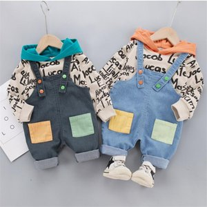 Children Clothing 2020 Autumn Boys Girls Clothes Suit Baby Long Sleeve Hooded Tops + Pants 2Pcs sets Toddler Kids Tracksuits