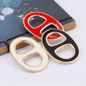 New Fashion Women H Shawl Ring Clip Scarves Fastener Silk Scarf Buckle Brooch Simple Enamel Brooch Clothes Jewelry Female Gift