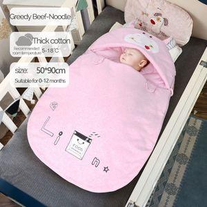 Baby Sleeping Bag Warm and Comfortable Suitable for Babies Cartoon Pictures Grow Healthy Sleeping Bag 201111