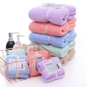 Coral Fleece Badetücher Gesicht Handtuch Solid Color Soft-Turbane mit hoher Dichte Qualitätswasseraufnahme Handtücher Wrap Badezimmer Bademantel GWC3697