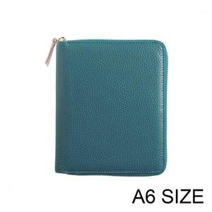 MoTerm Genuine Leather Planner A6 Zipper Notebook Diário Diário Jornal Papelaria Pequeno Notepad Organizador Agenda com Big Pocket1
