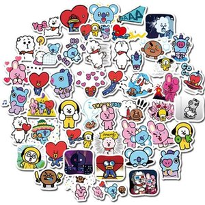 40 Cute Cartoon Animal Children Toy Stickers Diy Scrapbook Luggage Laptop Waterproof Mobile Phone Notebook Decal Stickers