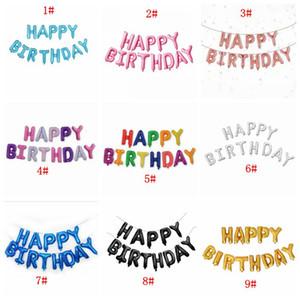 16-дюймовые буквы с днем рождения фольга воздушные шары с днем рождения украшения вечеринки дети алфавит воздушные шары детские душевые принадлежности DBC BH4443