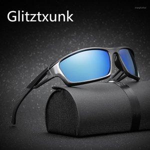 Glitztxunk поляризованные солнцезащитные очки Мужчины бренд дизайнер ретро мужской спортивный спортивный рыболовный вождение солнцезащитные очки для мужчин Винтаж Goggle1