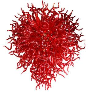 Hot sale Red Color Blown Glass Chandelier Art Decor Excellent Living Room Home Glass Pendant Lights modern led chandeliers