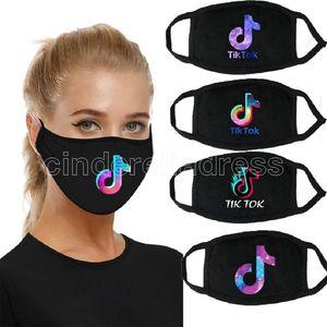 Tiktok Gesichtsmaske Modedesigner Gesichtsmasken Tiktok staubfestes Tuch Baumwolle gedruckte Masken Atmungsaktive waschbare Mund Gesichtsmaske FY9346