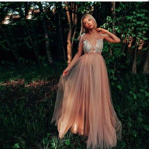 2021 Sexy Coral Prom Dresses Lace Appliques Crystal Beaded Sleeveless Floor Length Women Special Party Dress Graceful Luxury Evening Wear