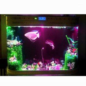 Sfondo di decorazione della luce impermeabile Sfondo EU / US Plug colorato Acquario sommergibile LED Spotlight Lampada per lampada per il serbatoio di pesce Stagni Piscina Bulb1