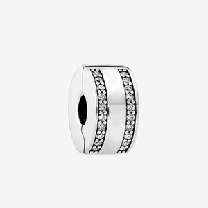 classical 925 Sterling Silver Clip Charm Jewelry Accessories with box for Bracelet Bangle Making Clips