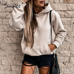 Simplee Pink Hoodie Sweatshirt women Long sleeve casual Kpop clothes Female hoodie autumn winter Pullover Fashion sweatshirt New LJ201124