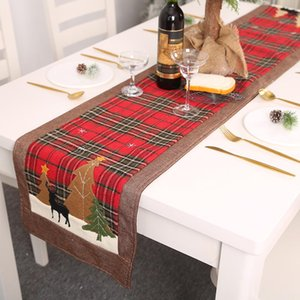 Christmas Creative Xmas Tree Snowman Elk Tablecloth Decor Table Cover Natal Table Flag Towel Merry Christmas Decor For Home BWE2227