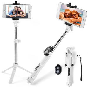 Tripod Bluetooth Selfie Stick For Phone Stainless Steel Battery Controller Remote Shutter Monopod Extendable Convenient Stable