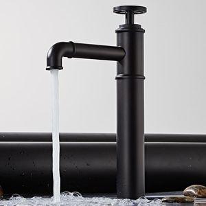 Langyo Personalized Creative Faucet Matt Black And Red Color Basin Brass Tap Bathroom Sink Washbasin Basin Mixer Faucet bbyrJV sport77777
